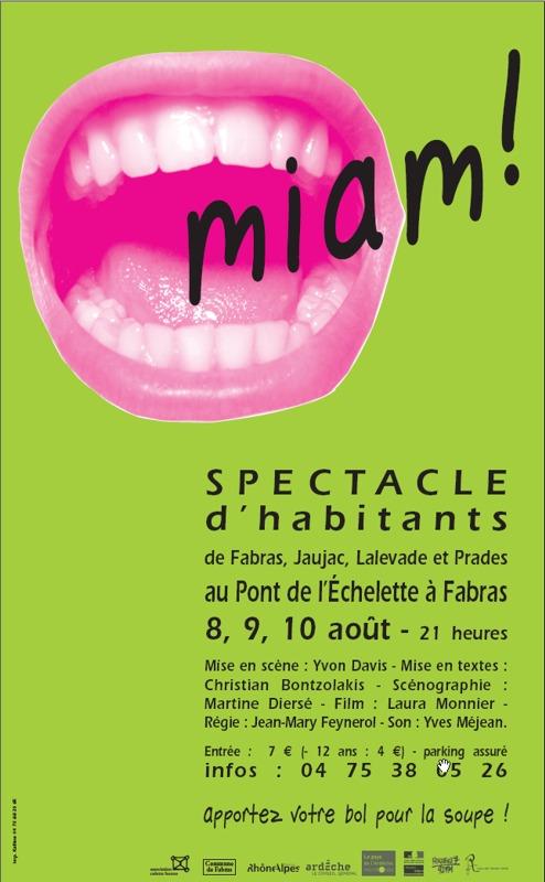 Affiche du spectacle Miam.