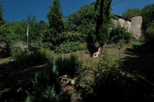 Jardin ouest au crépuscule
