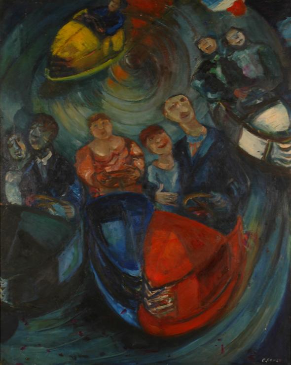 Le Manège, huile sur toile, 155 x 140 cm, 1964