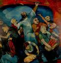 Le Christ chassant les marchands du temple, huile sur toile, 200 x 200 cm, 1957.