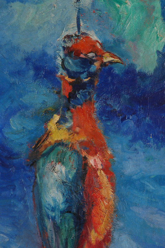 Faisan pendu (détail), huile sur toile, 117 x 80 cm, 1962.