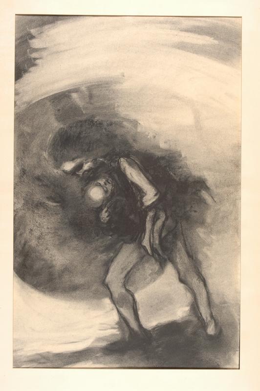"""Fusain extrait d'une série sur le thème du """"Dies Illa (Ce jour-là), 1962-1965."""