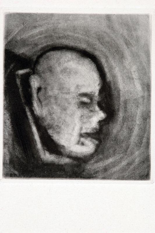 """La peine capitale, gravure à l'eau forte extraite du livre """"La Peine capitale"""", texte d'Henri Queffélec, édition Manuel Brüker, Paris, 1962."""