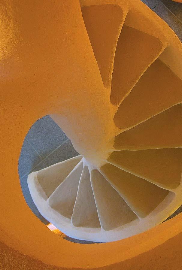 Joêl Unal, escalier de la Maison Unal (Chapias, Ardèche)