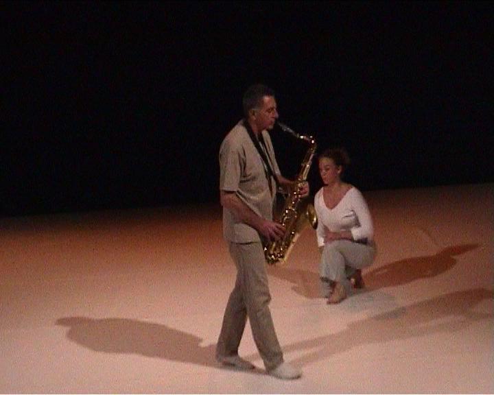 """Jean Cohen (saxophone),Delphine Pouilly (danse), """"Lectures froissées"""""""