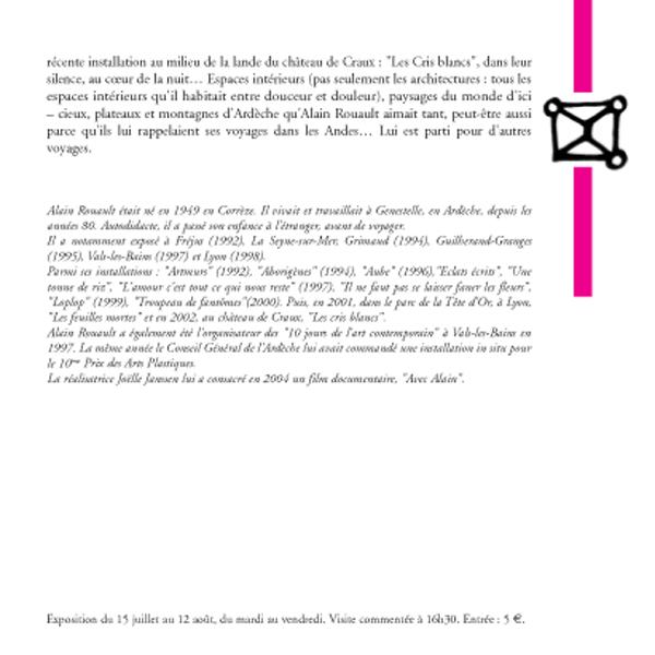 Alain Rouault, suite et fin