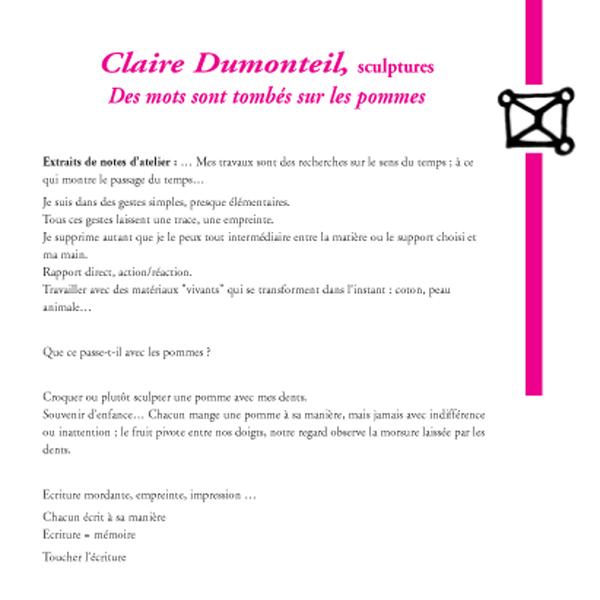Claire Dumonteil, sculptures