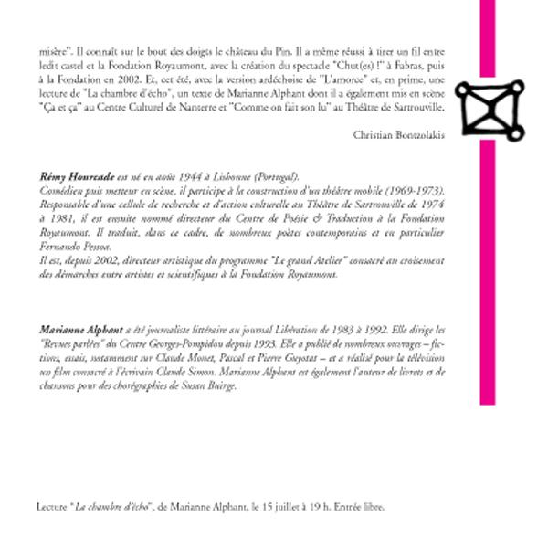 Rémy Hourcade, traductions / lectures (suite et fin)