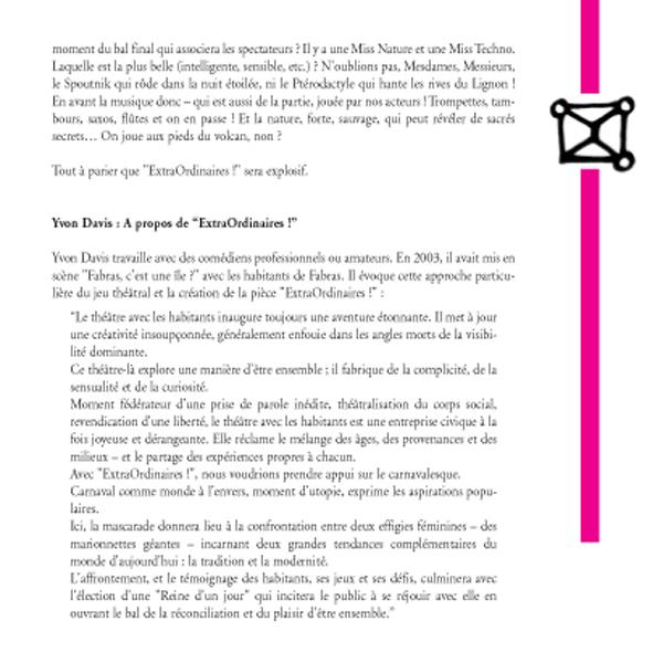 """Théâtre / création : """"ExtraOrdinaires !"""" (2)"""