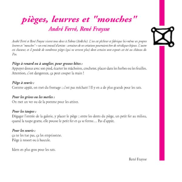 """Pièges, leurres et """"mouches"""" / André Ferré, René Fraysse"""