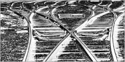 """Brigitte Kohl - Installation photographique """"Visions ferroviaires"""""""