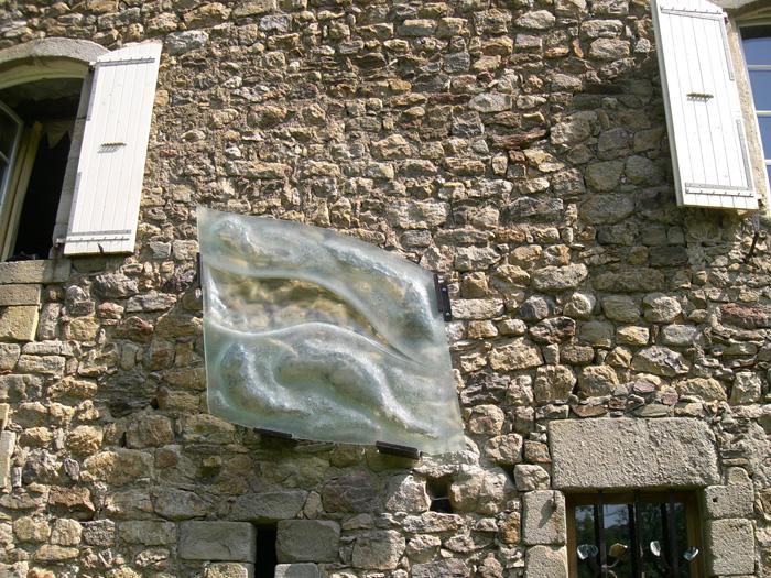 Annet Perrin / Sculpture verre / Château du Pin 2008.