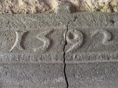 1592 : date gravée dans les cuisines.