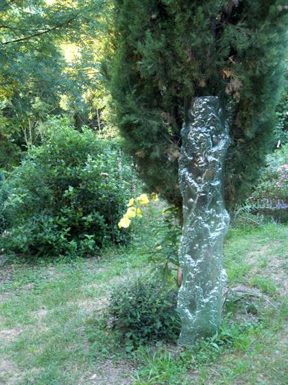 """Anet Perrin, """"Sculpture verre pour les jardins du Château du Pin"""", 2008."""
