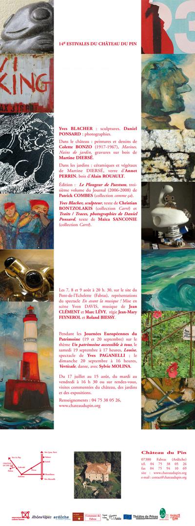 Invitation aux 14e Estivales du Château du Pin - 2009