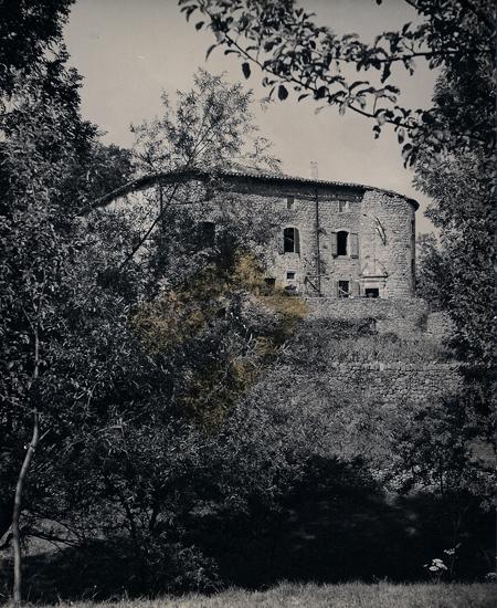 Le château du Pin en 1958, façade sud.