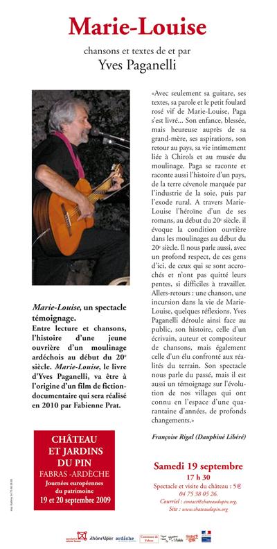 """""""Marie-Louise"""", de et par Yves Paganelli."""