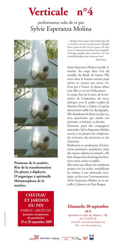 """Verticale n° 4″, de et par Sylvie Esperanza Molina."