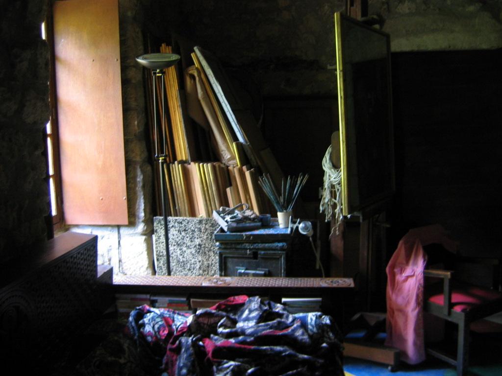 Atelier de Colette Bonzo au Château du Pin (photo : Patrick Combes).