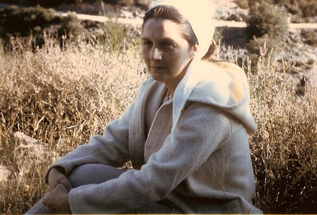 Colette Bonzo, à Fabras, en 1966.