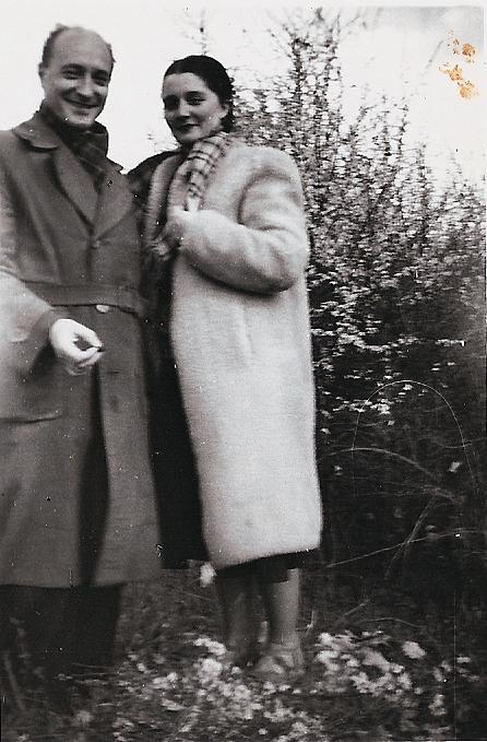 Colette Bonzo avec son mari Élie Bontzolakis en 1940.