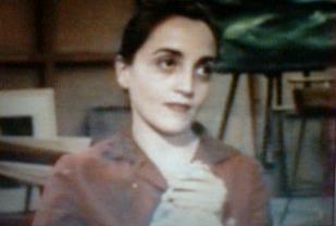 """Dominique Blanc dans """"Colette Bonzo, une femme en bataille"""", film de Camille Brottes (1992)."""