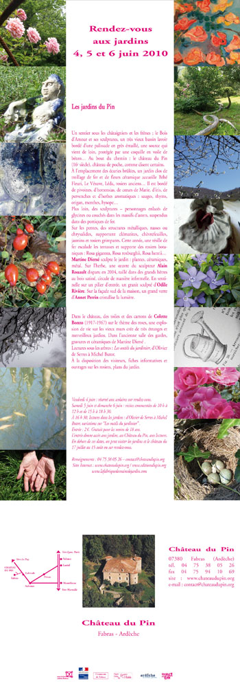 """Invitation aux """"Rendez-vous aux jardins"""" 2010"""