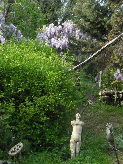 Jardins du Pin - Printemps 2011 - Sculptures de Martine Diersé