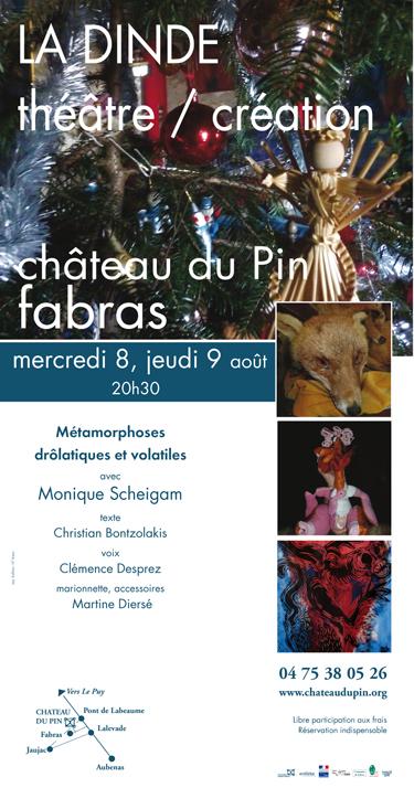 """Invitation théâtre : """"La Dinde"""" / 8 et 9 août 2012"""