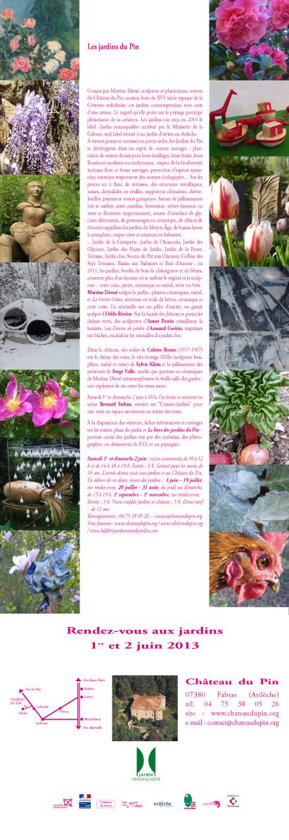 Invitation Rendez-vous aux jardins 2013
