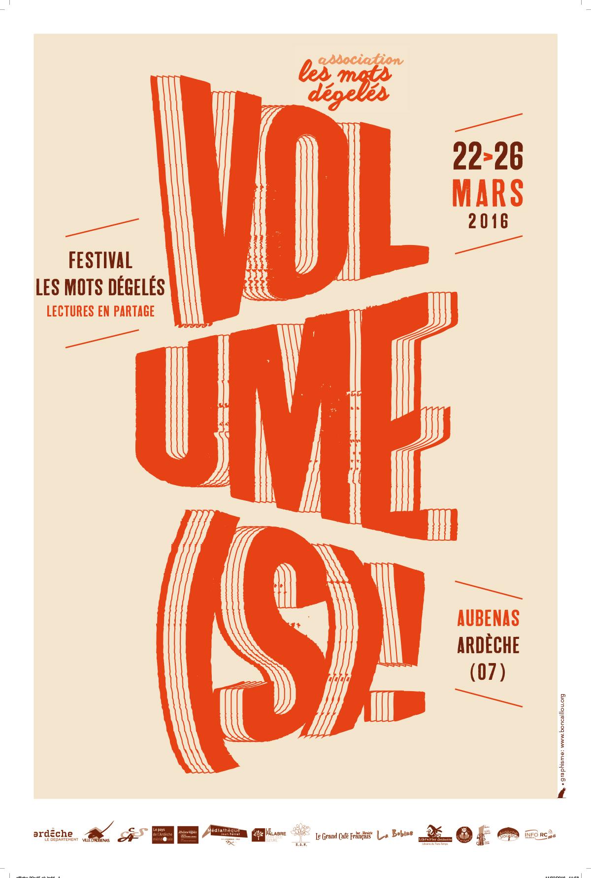 """Affiche festival 2016 """"Les mots dégelés"""""""