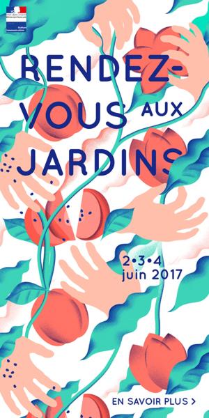 Affiche Rendez-vous aux jardins 2017