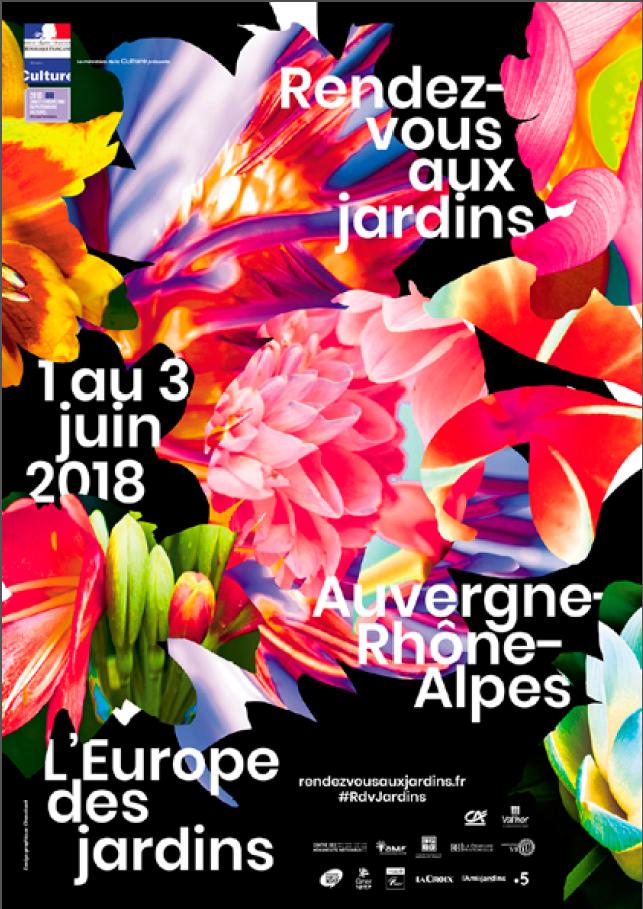 """Affiche """"Rendez-vous aux jardins 2018″."""