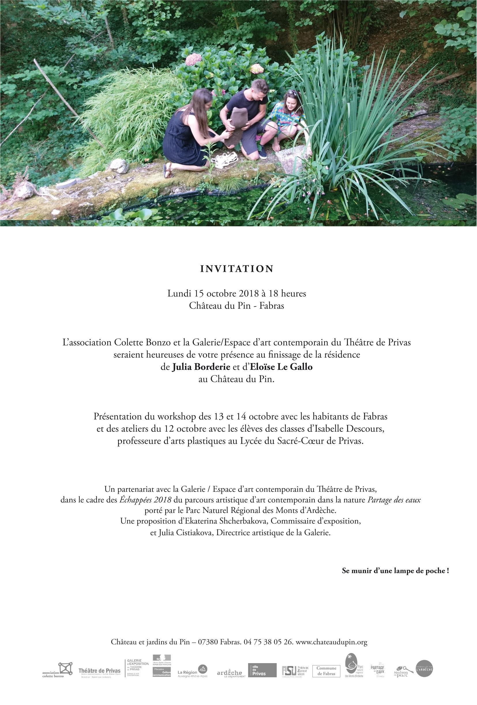 Invitation au Finissage
